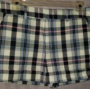 DKNY Plaid Shorts